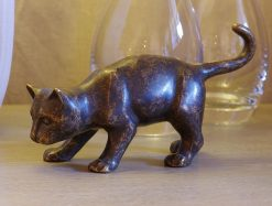 Bronze Sculpture Brown Cat