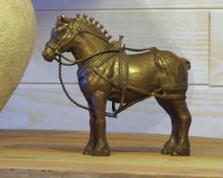 Bronze Sculpture Working Horse