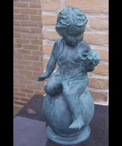 Bronze Sculpture Boy Shell