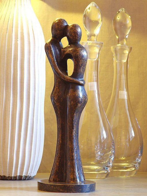 AB 3 Fine Cast Bronze Sculpture Abstract Lovers 34cm 1 | Avant Garden