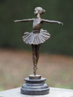 Fine Cast Bronze Sculpture Ballerina 28cm