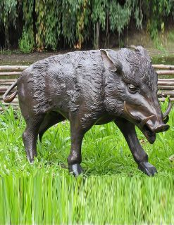 WI 11 Solid Bronze Boar Large Sculpture 1 | Avant Garden
