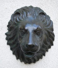 Fine Bronze Lion Fountain Sculpture Wall Mounted