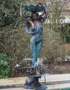 Fine Cast Bronze Fountain Woman with Shell
