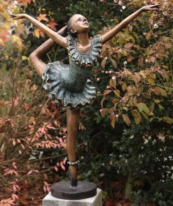 Fine Cast Bronze Sculpture Ballerina Girl Large
