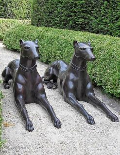 DO 11 Bronze Guard Dog Pair Sculpture 1 | Avant Garden