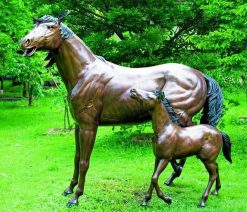 Bronze Sculpture Horse Foal
