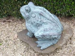 Fine Bronze Fountain Sculpture Frog Verdigris Water Feature