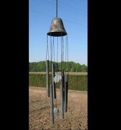 Fine Cast Bronze Windchime Bell With Pineapple