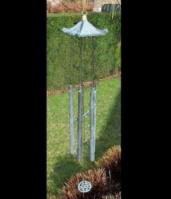 Fine Cast Bronze Windchime Chinese Roof