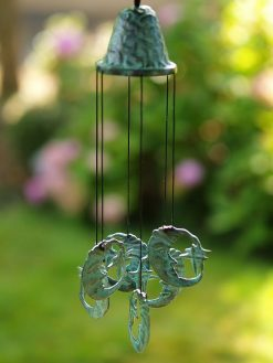 Fine Cast Bronze Wind Chime Moon