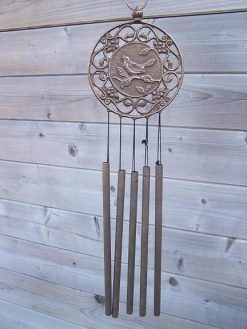 Fine Cast Bronze Wind Chime with Bird Decoration