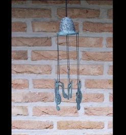 Fine Cast Bronze Windchime Musical Notes