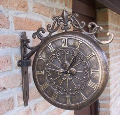 Fine Cast Bronze Outdoor Wall Clock