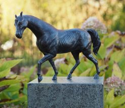 Bronze Sculpture Trotting Horse