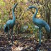 FO 33 Solid Bronze Fountain Heron Pair Sculpture Water Feature 1 | Avant Garden
