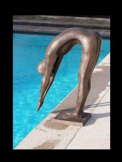 Bronze Sculpture Swimmer Christophe 87cm