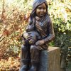 FIGI 24 Solid Bronze Girl Teddy Sculpture 1 | Avant Garden
