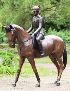HO 23 Solid Bronze Horse Rider
