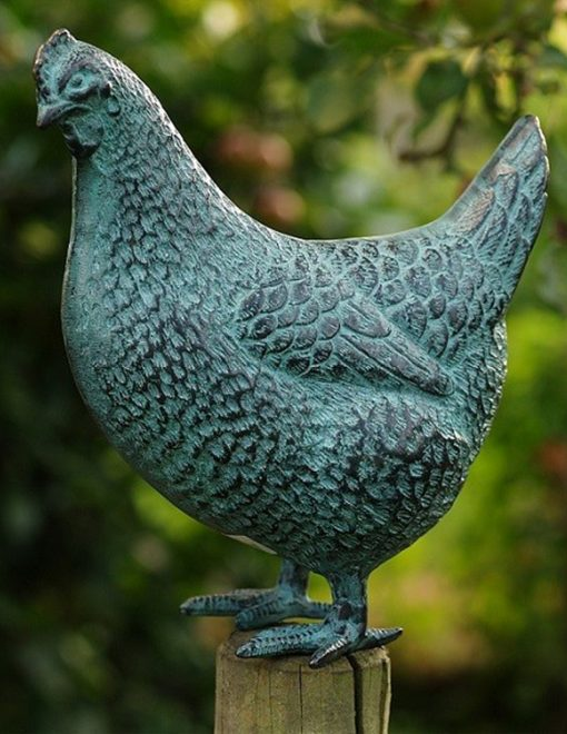 BI 50 Bronze Chicken Sculpture 1 | Avant Garden