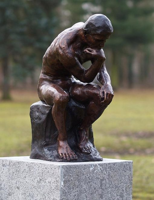 FIME 26 Fine Cast Solid Bronze Rodins The Thinker Sculpture 61x51x51cm 1 | Avant Garden