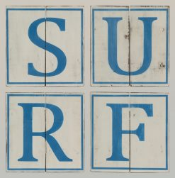 Archipelago Wooden Sculpture Sign SURF