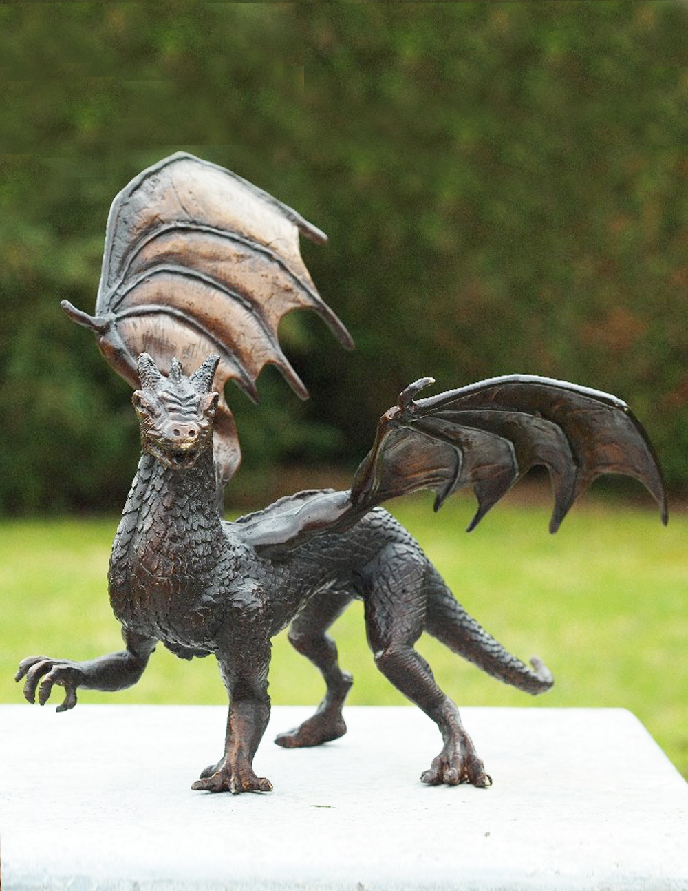 MI 57 Solid Bronze Dragon Sculpture 1 | Avant Garden