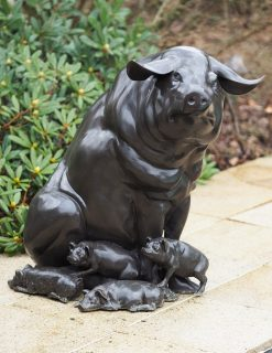Bronze Sculpture Pig Family