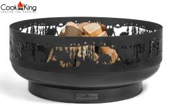 CookKing Laser Cut Fire Bowl Forest 80cm