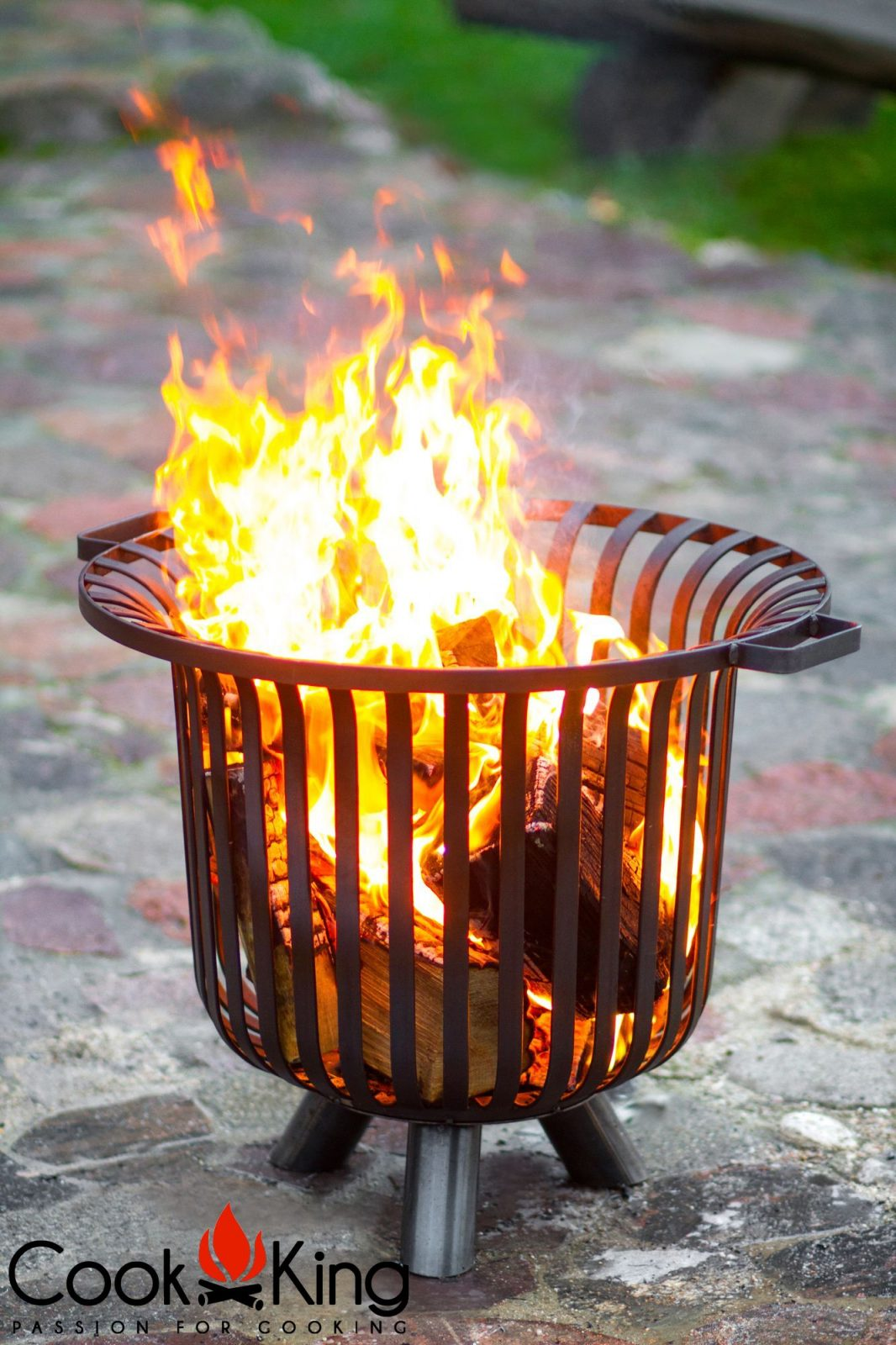 111452 CookKing Fire Basket 8 Log Basket | Avant Garden