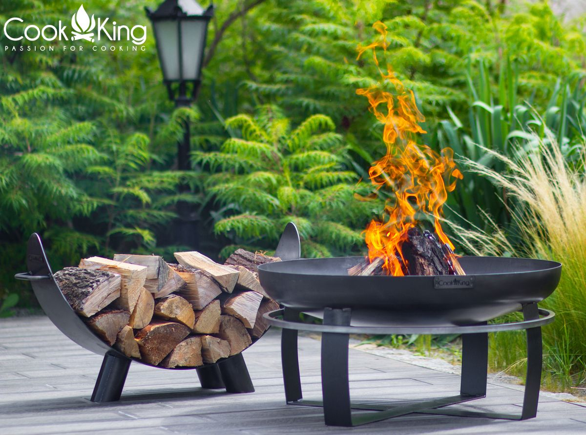CookKing Fire Bowl Viking Mila Log Rack 2 | Avant Garden