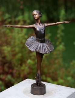 Fine Cast Bronze Sculpture Ballerina 32cm