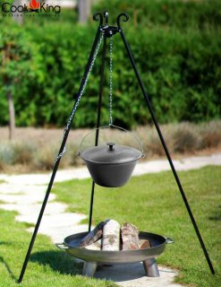 CookKing Cast Iron Pot 1214032 Tripod Fire Bowl Bali Avant Garden Guernsey