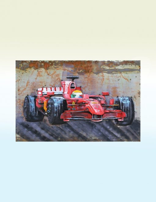 MEAR 72 3D Metal Wall Art Formula 1 Red Racing Car 1 | Avant Garden