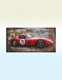 MEAR 74 3D Metal Wall Art Racer No 20 1 | Avant Garden