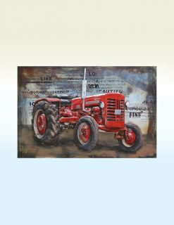 MEAR 75 3D Metal Wall Art Tractor Sculpture 1 | Avant Garden