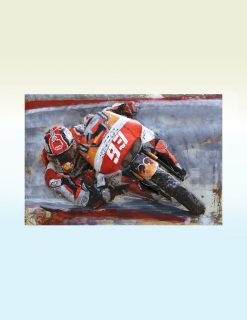 MEAR 77 3D Metal Wall Art Grand Prix Motor Bike 93 1 | Avant Garden