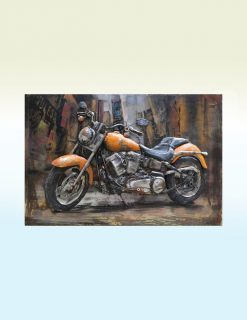 MEAR 78 3D Metal Wall Art Amber Road Motor Bike 1 | Avant Garden