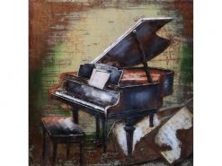 MEAR 82 3D Metal Wall Art Grand Piano Avant Garden Guernsey