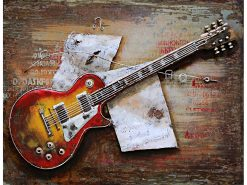 MEAR 83 3D Metal Wall Art Electric Guitar Avant Garden Guernsey