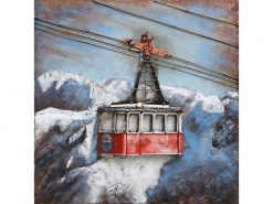 MEAR 88 3D Metal Wall Art Cable Car Ski Lift Avant Garden Guernsey