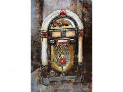 MEAR 89 3D Metal Wall Art Juke Box Jury Sculpture Avant Garden Guernsey