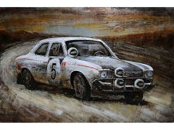 MEAR 91 3D Metal Wall Art Rally Car Racing Avant Garden Guernsey