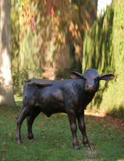 MI 62 Fine Cast Solid Bronze Calf Sculpture 1 | Avant Garden