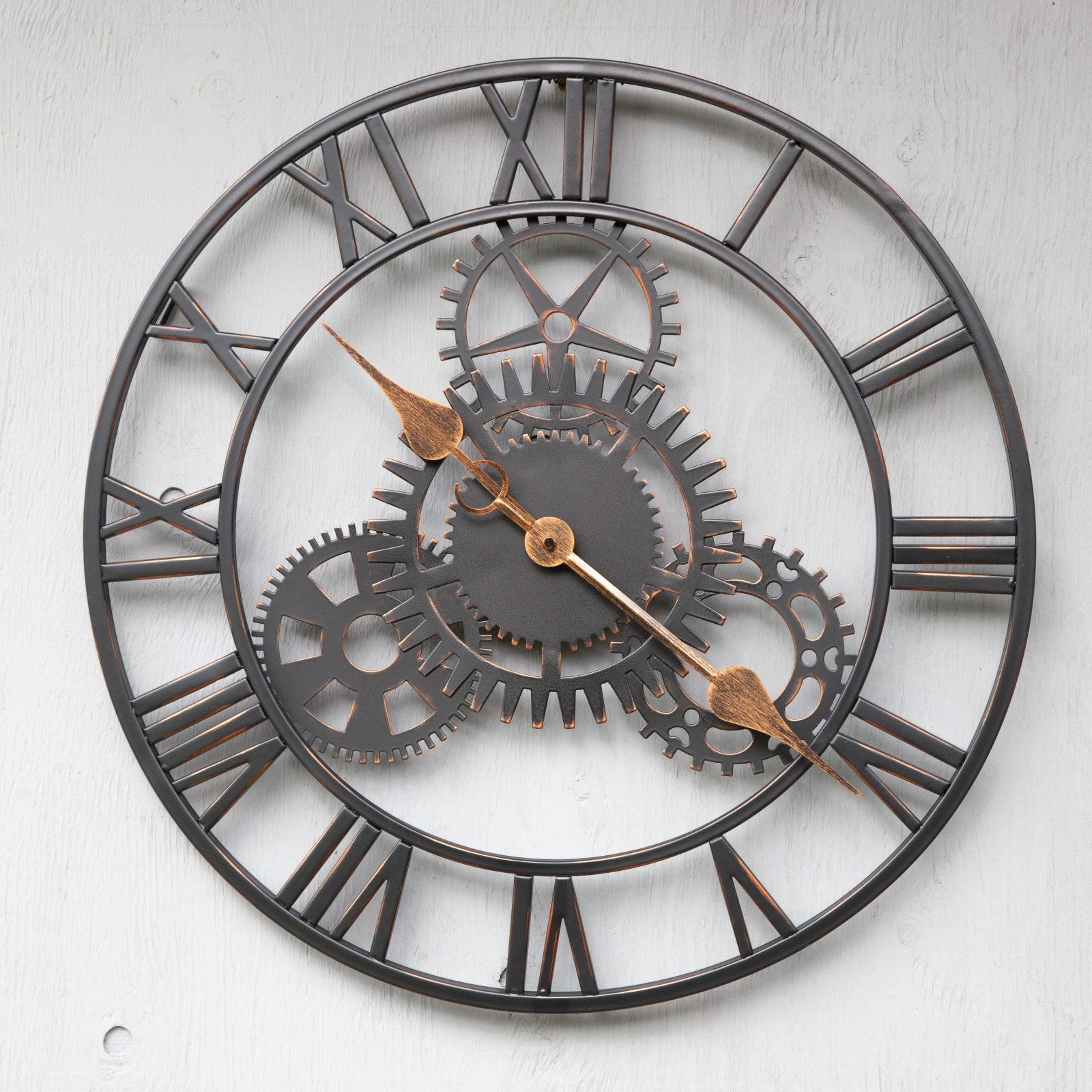 CL002 1 Workshop Style Outdoor Garden Skeleton Clock Weather Resistant | Avant Garden