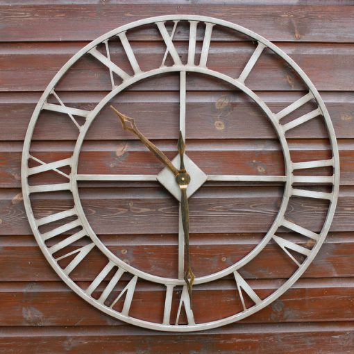 CL004 2 Outdoor Garden Skeleton Clock 76cm | Avant Garden