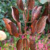 SP427 Leafy Super Spinner Burnished Gold Garden Wind Sculpture | Avant Garden Guernsey
