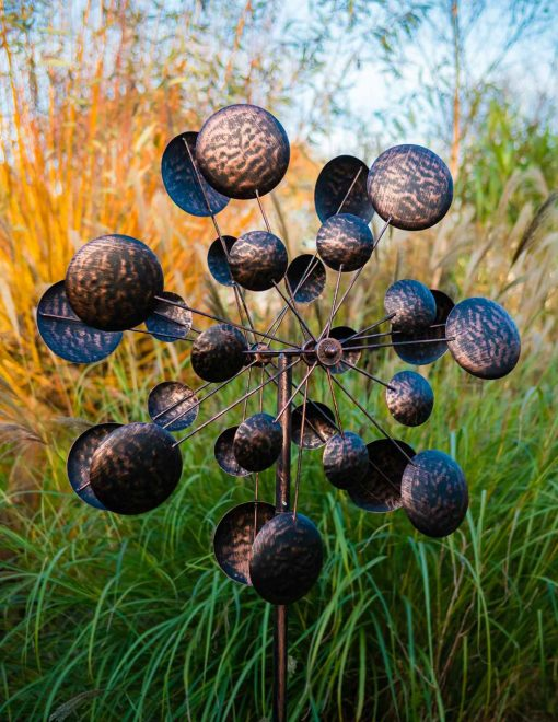 SP430 Discotheque Burnished Bronze Garden Wind Sculpture 1 | Avant Garden