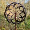 SP520 Mesmerise Burnished Gold Garden Wind Sculpture 1 | Avant Garden