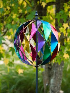SP570 Globe Spectrum Multi Coloured Garden Wind Sculpture | Avant Garden